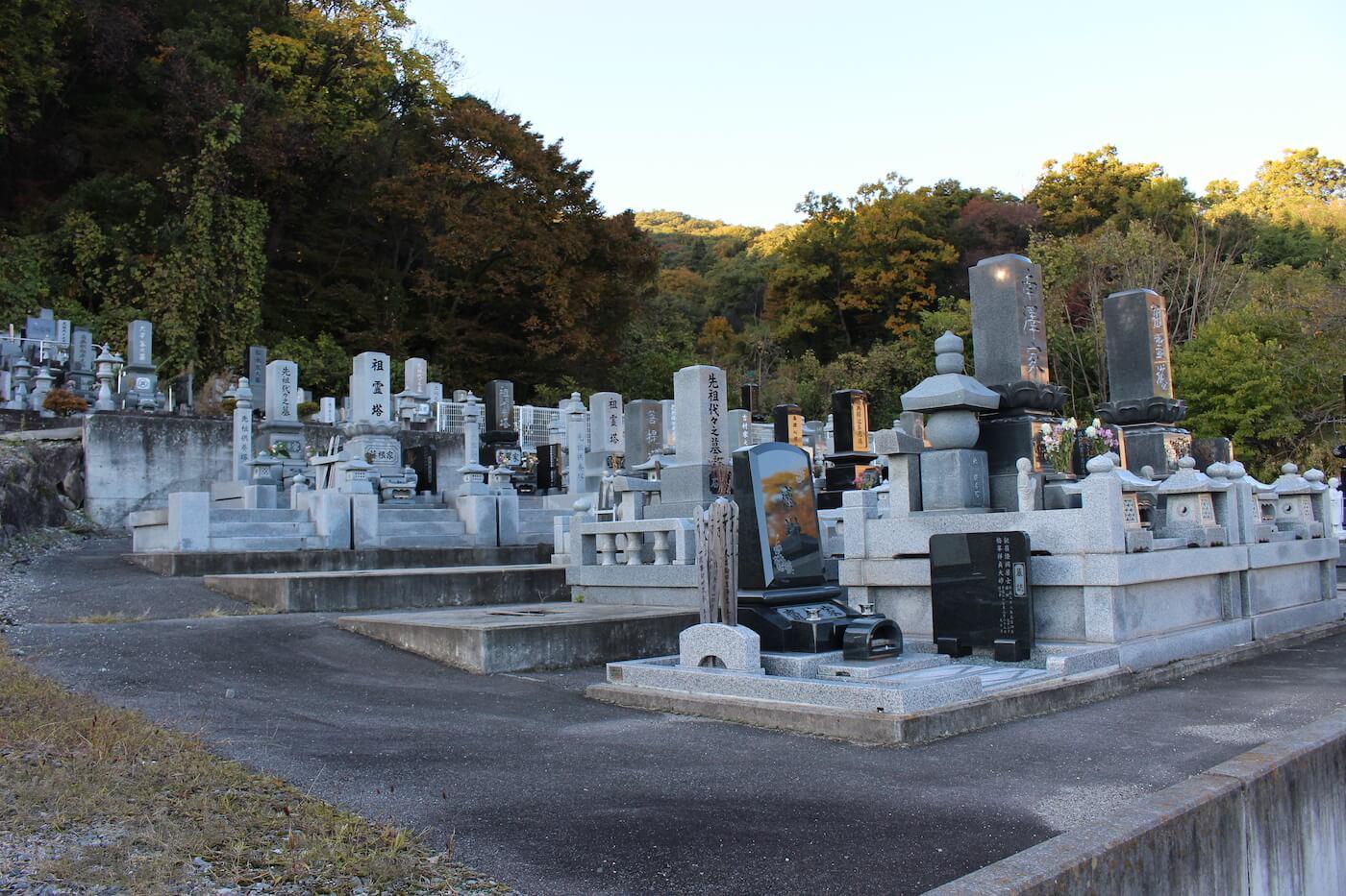 真蔵寺墓地の全景