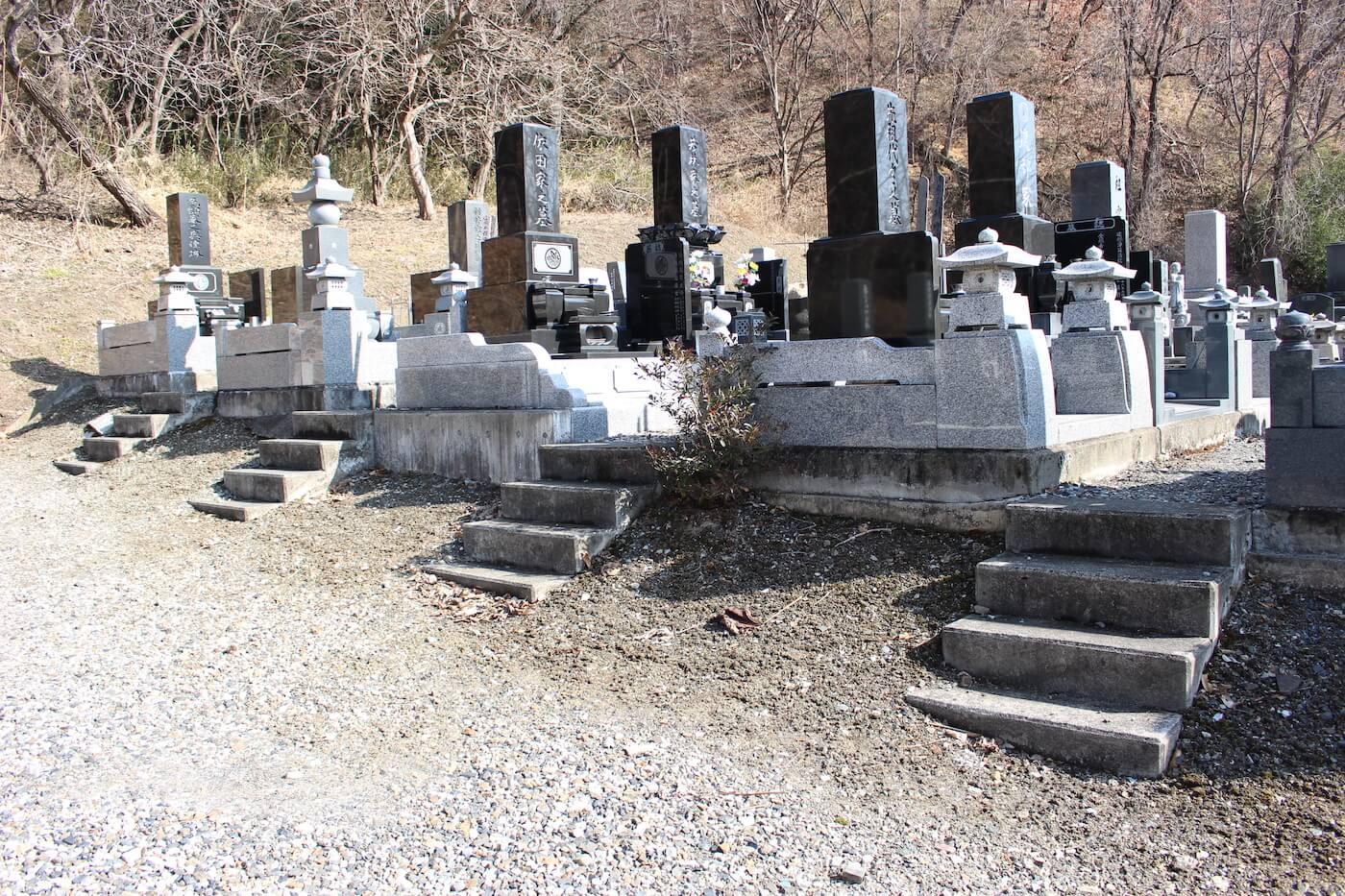 千曲市の大明神霊園の一般墓の区画