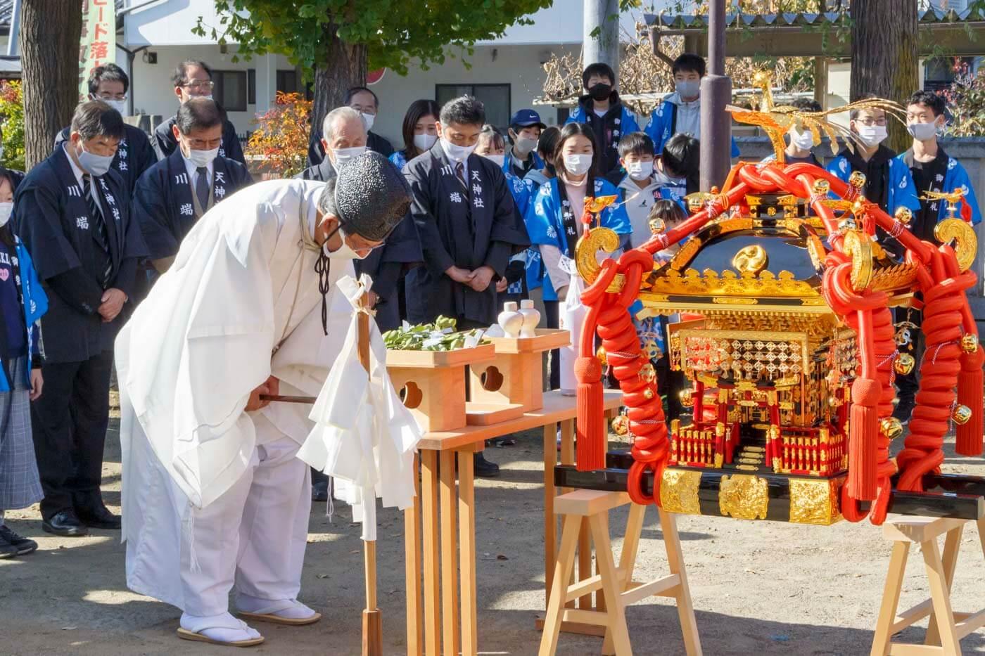 長野市高田川端区の皆様へお神輿贈呈